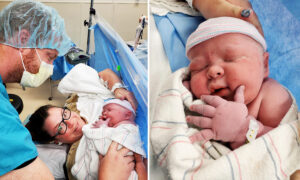 Arizona Mom Who Suffered 19 Miscarriages Gives Birth to a Whopping 14.1lb Baby Boy
