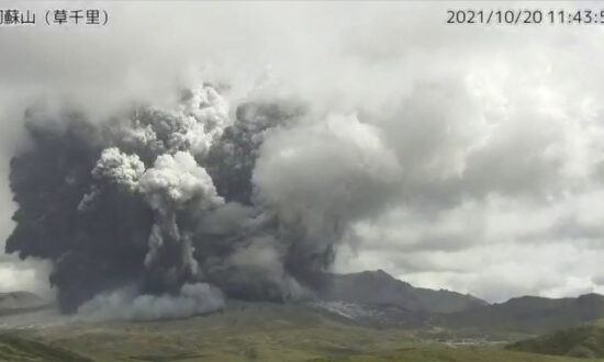 Volcano in Southern Japan Erupts With Massive Smoke Column