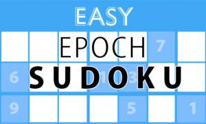 Thursday, October 28, 2021: Epoch Sudoku Easy