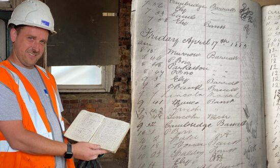 Contractor at Old Train Station Unearths Hand-Written Ledger From 1885 in Cambridgeshire