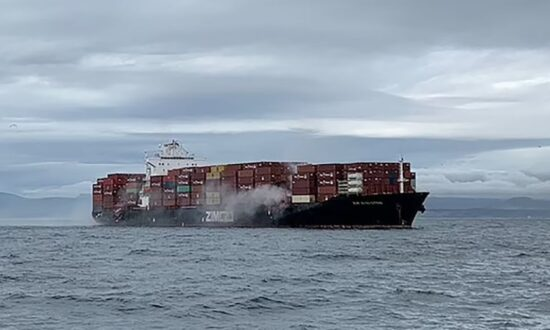 Fire Breaks Out on Container Ship Off West Coast, Expelling Toxic Materials: Officials