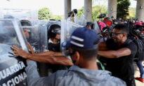 2,000-Person Caravan Surges Past Mexican Riot Police Near Guatemala Border