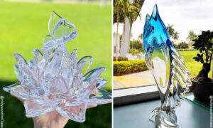 VIDEO: Glassblowing Artist Turns Molten Glass Into Lotus Flowers, Hummingbirds, and Beyond