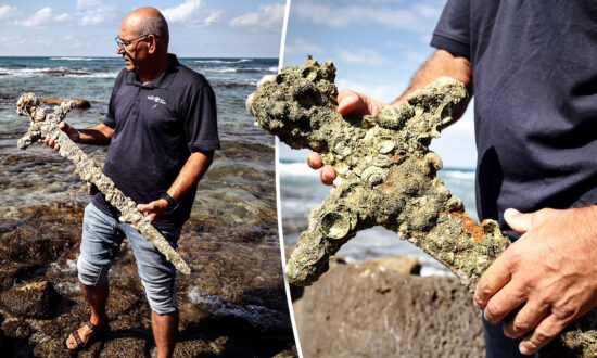 Amateur Diver Finds Encrusted Sword From the Crusades Believed to Be 900 Years Old off Coast of Israel