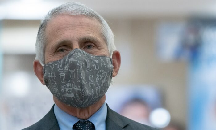 Dr. Anthony Fauci is seen in New York City in a file photograph. (Jeenah Moon/Getty Images)