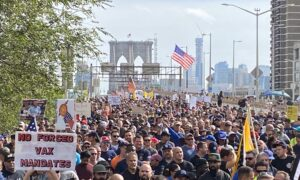 'We Have a Communist Takeover': Thousands of NYC Firemen and Police Officers Defy Vaccine Mandates in Largest Protest Yet
