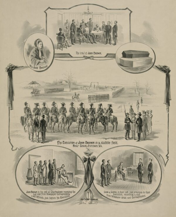 Commemorative,Print,Depicting,The,Trial,And,Execution,Of,Militant,Abolitionist,