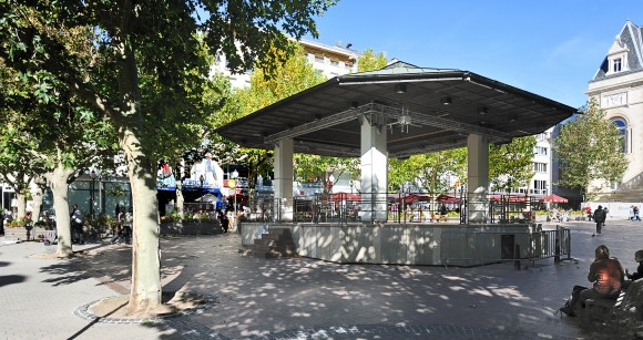 "The bandshell at Place D'Armes, Luxembourg's ""living room."" (Cayambe/Wikipedia)"
