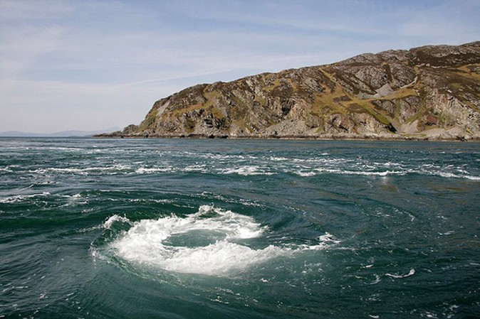 The Corryvreckan Whirlpool in Scotland (Walter Baxter)