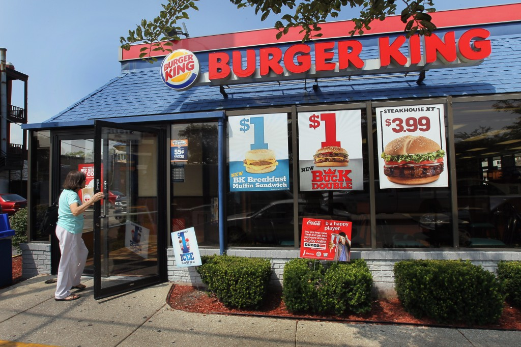 A customer walks into a Burger King restaurant on August 24, 2010 in Chicago, Illinois. (Scott Olson/Getty Images)