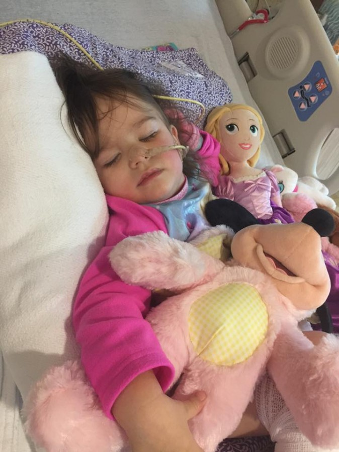 Eden Carlson after being released from hospital. (Courtesy of the Carlson family)