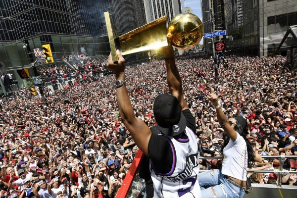APTOPIX Raptors Parade Basketball