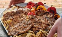 Fennel and Garlic Pork Chops With Sweet Peppers and Onions