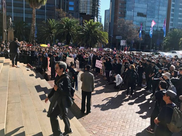protest Hong Kong extradition laws in Australia