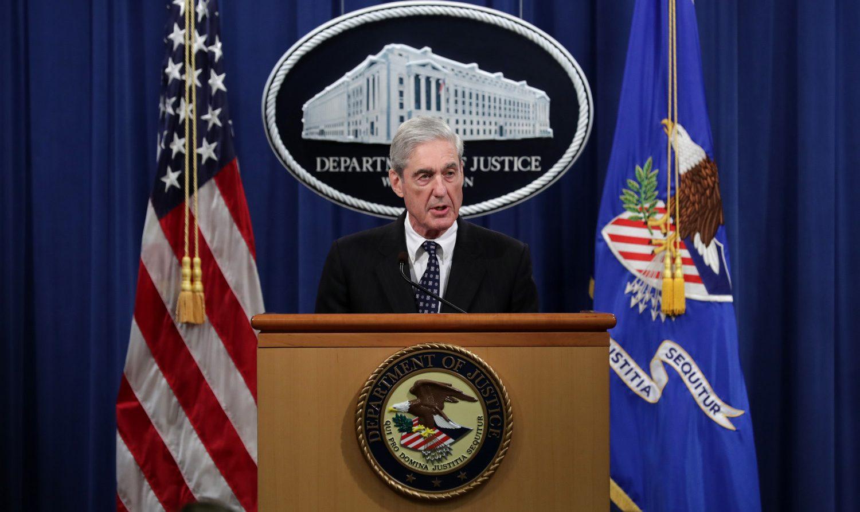 Special Counsel Robert Mueller makes a statement