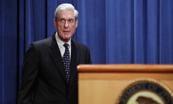 Special Counsel Robert Mueller arrives to make a statement about the Russia investigation at the Justice Department in Washington on May 29, 2019.  (Chip Somodevilla/Getty Images)