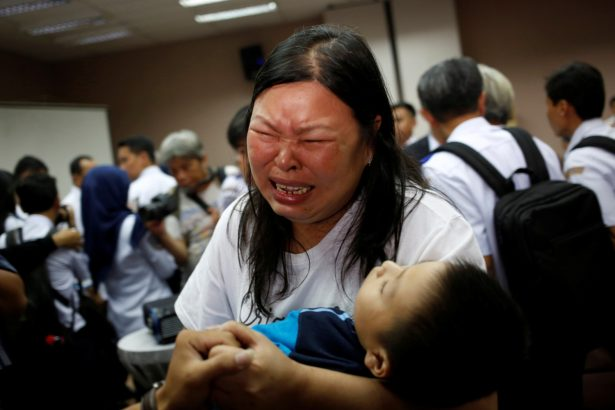 A woman, whose husband was on Lion Air flight JT610