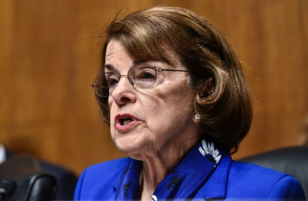 Senate Judiciary Committee Chairman Ranking Member Dianne Feinstein speaks during a Committee hearing on Cambridge Analytica and data privacy in the Dirksen Senate Office Building on Capitol Hill in Washington, DC on May 16, 2018. (Photo by Mandel NGAN / AFP) (Photo credit should read MANDEL NGAN/AFP/Getty Images)