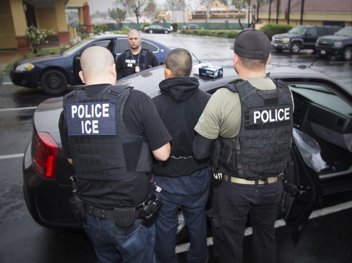 Illegal immigrants are arrested by ICE