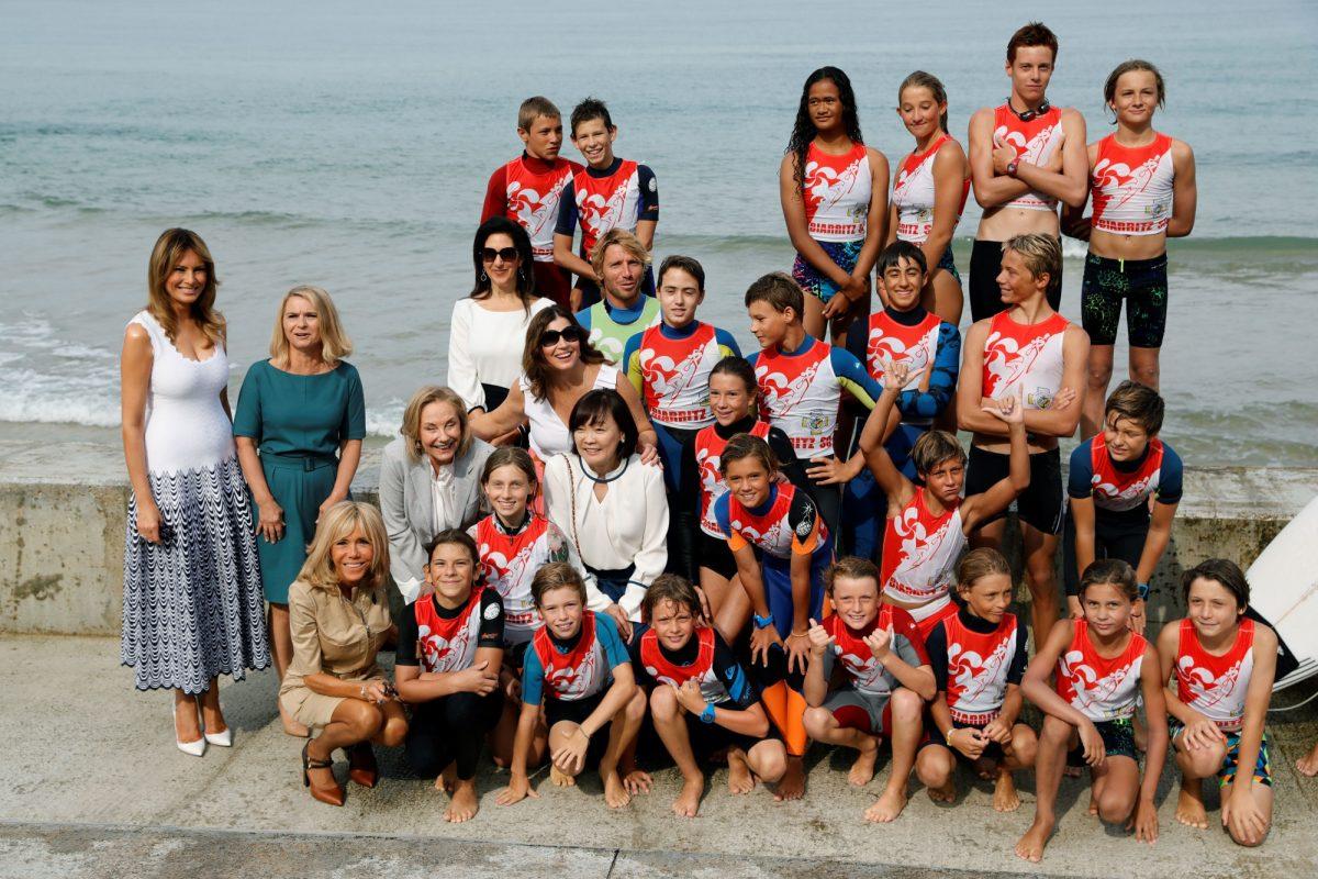 Melania Trump G7 spouses - surfers 1
