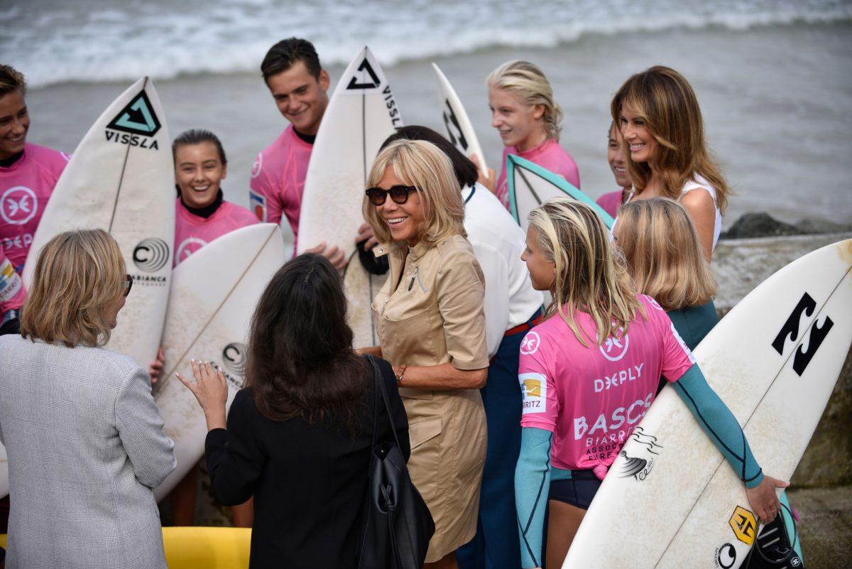 Melania Trump G7 spouses - surfers 2