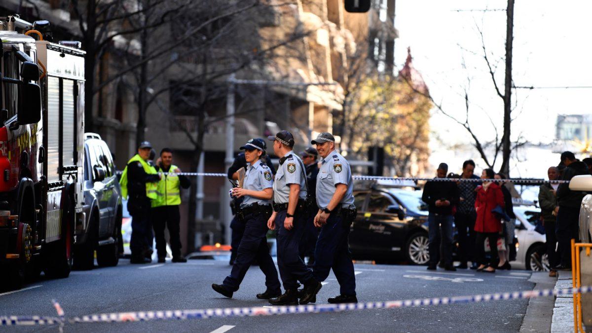 Sydney stabbing scene 1