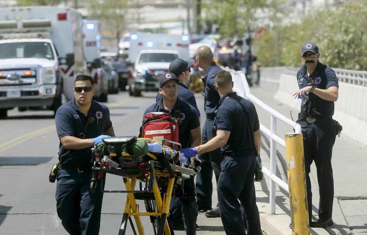 El Paso Fire Medical personnel arrive
