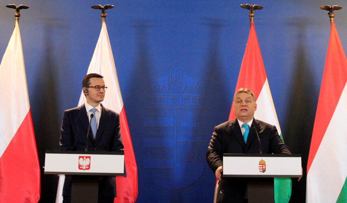 Polish Prime Minister Mateusz Morawiecki and Hungarian Prime Minister Viktor Orban