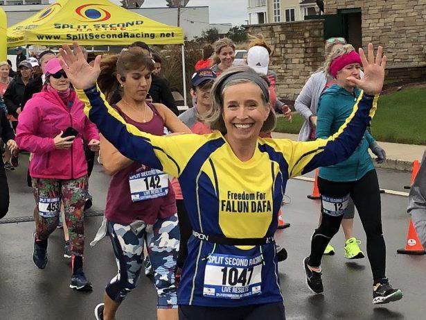 Jeanne Mitchell running for triathlon in 2018