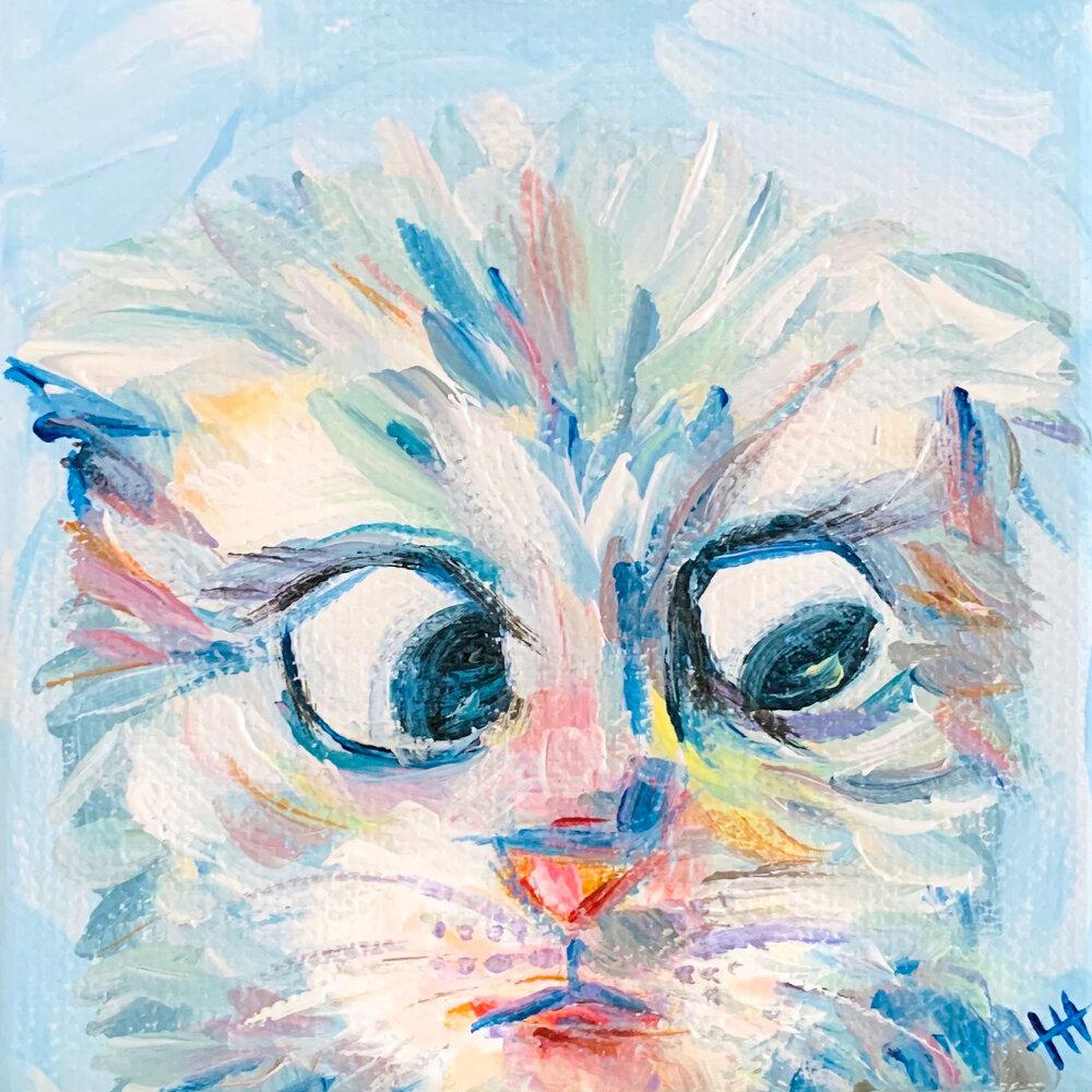 I am not a cat! - Mini Acrylic Painting