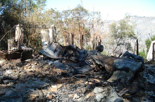 The remains of the author's home after a devastating 2007 wildfire. (Courtesy of Wendy Keller)